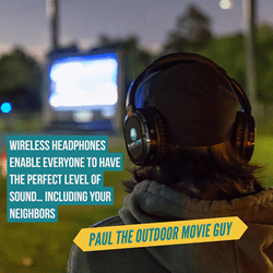 Wireless Headphones AKA Silent Disco Headphones enable everybody to have the perfect level of sound. Including the neighbors.