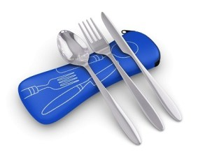 Roaming Cooking 3 Piece Stainless Steel Camping Cutlery Set