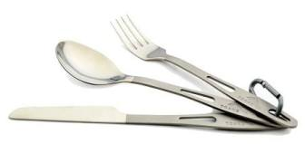 TOAKS Titanium 3-Piece Cutlery Set - best camping utensils