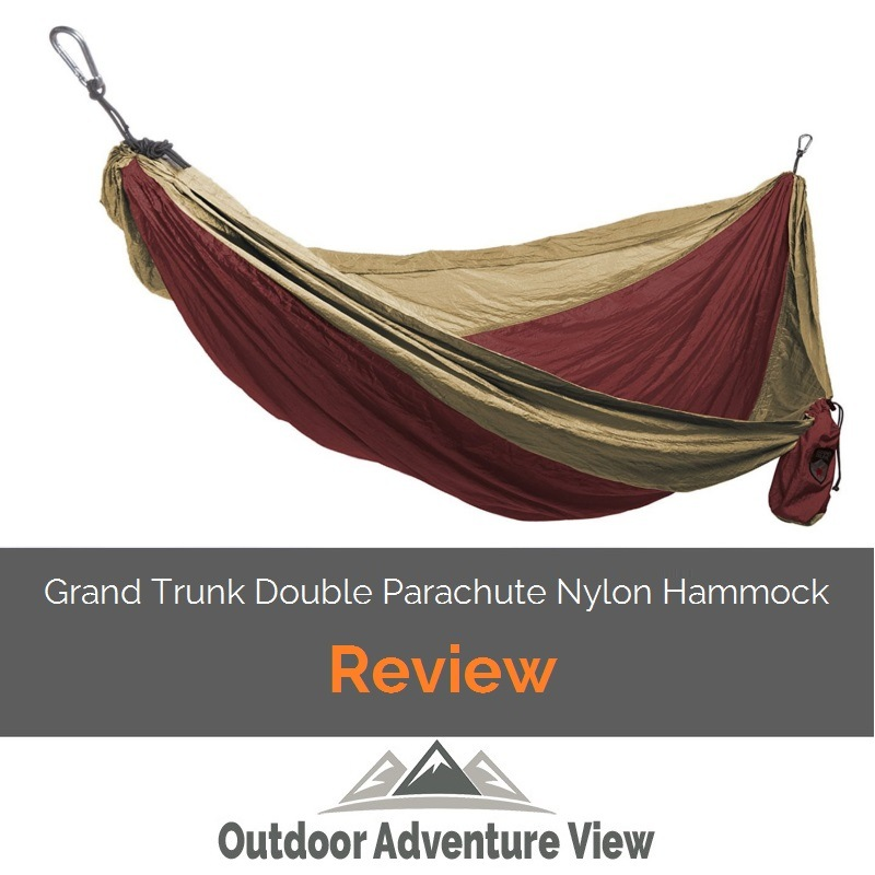 grand trunk double parachute nylon hammock review  with carabiners    outdoor adventure view grand trunk double parachute nylon hammock review  with carabiners      rh   outdooradventureview