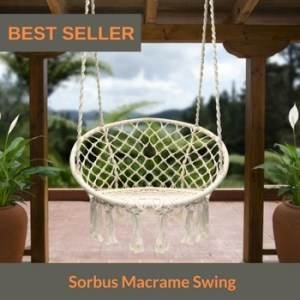 best hanging hammock chair Sorbus Macrame Swing