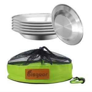 bisgear camping stainless plates