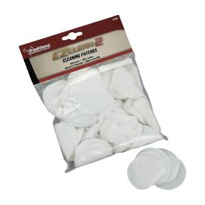Traditions EZ Clean 2 .45 – .54 Caliber Cleaning Patches 200-Pack