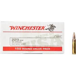 Winchester .223 Remington 55-Grain FMJ Rifle Ammunition