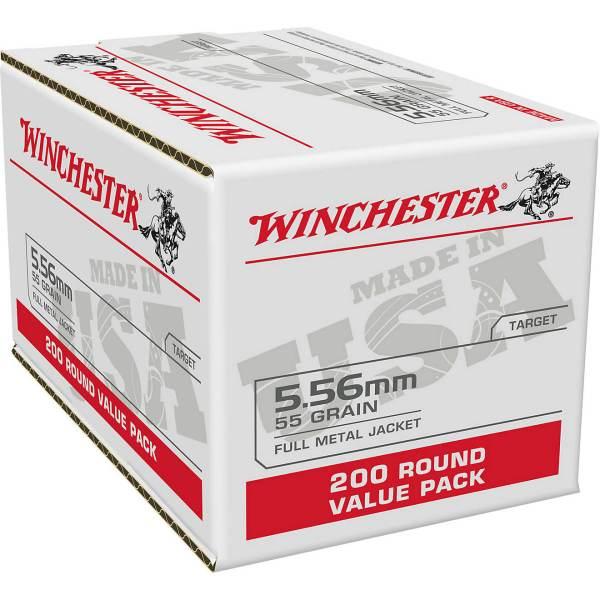 Winchester USA 5.56mm 55-Grain FMJ Ammunition