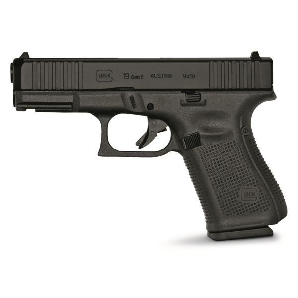 Glock 19 Gen5, Semi-Automatic, 9mm, 4.02   handgun