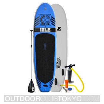 Isle 10ft Inflatable Stand Up Paddle Board With Pump and 3 Piece Adjustable Travel Paddle