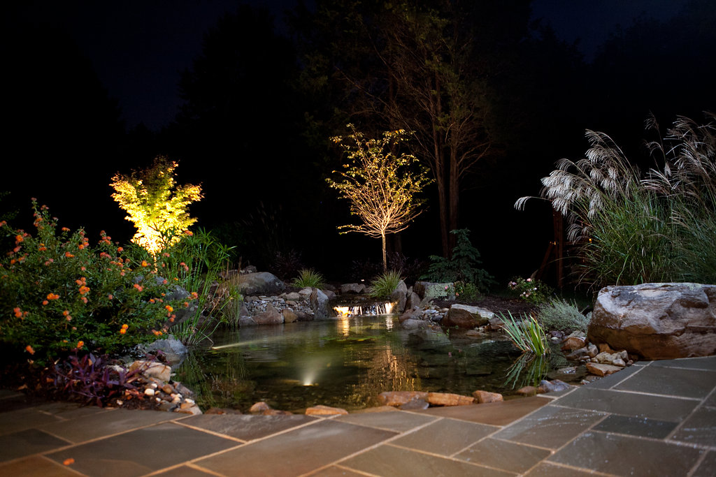 light up your home with landscape lighting landscapelighting outdoor contracting charlotte landscape contracting