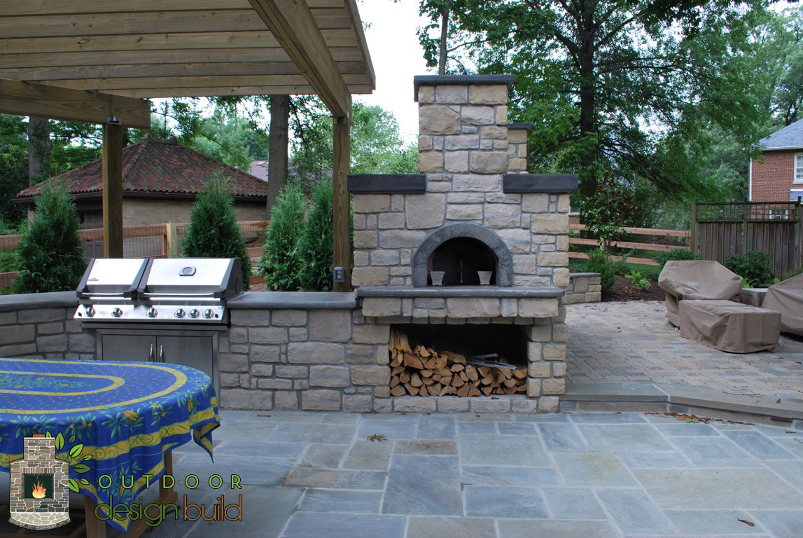 Pizza Ovens | Outdoor Design Build on Outdoor Patio With Pizza Oven  id=73167