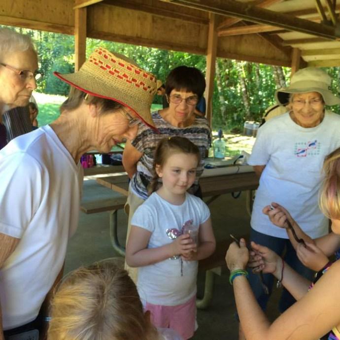 Seniors visiting a youth camp