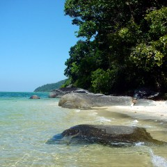 Warm waters, blue sky in Thailand