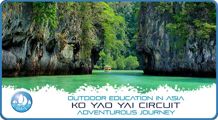 Spectacular coastal features on the Koh Yao Yai Adventurous Journey
