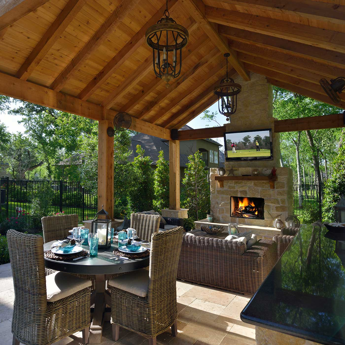 Houston Outdoor Living Space Contractor | Outdoor Elements on Garden Living Space id=35897