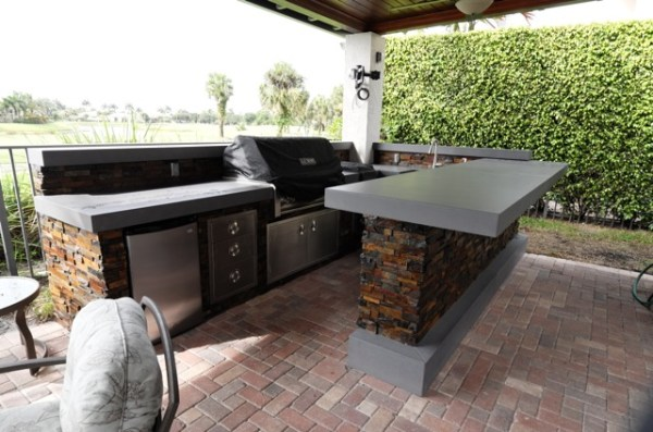 beach outdoor patio kitchen New Roofed Patio Extension with Outdoor Kitchen | OUTDOOR