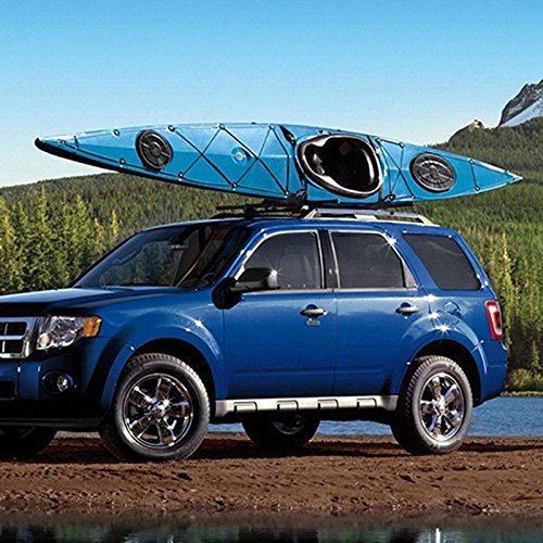2 Pairs Canoe Boat Kayak Roof Rack Car SUV Truck Top Mount Carrier J Cross Bar