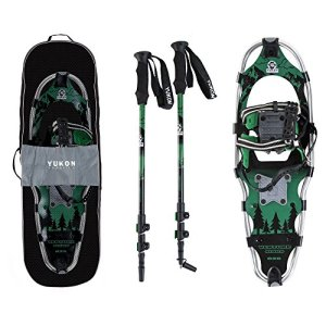 Yukon Charlie's Advanced 8x25 Inch Men's Snowshoe Kit with Aluminum Poles & Bag