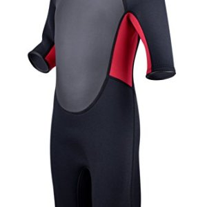 Realon Kids Wetsuit 3mm Premium Neoprene Youth for Girls and Boys Surfing Swimming XSPAN Full Back Zip Spring Suit