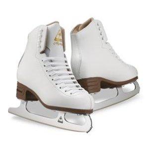Jackson JS1490 Mystique Womens Ice Skates White Beginner Level Figure Skatins (C, 5)