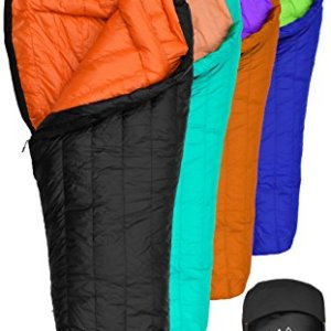 Hyke & Byke Goose Down Sleeping Bag for Backpacking – Eolus 0 Degree F 800 Fill Power Ultralight