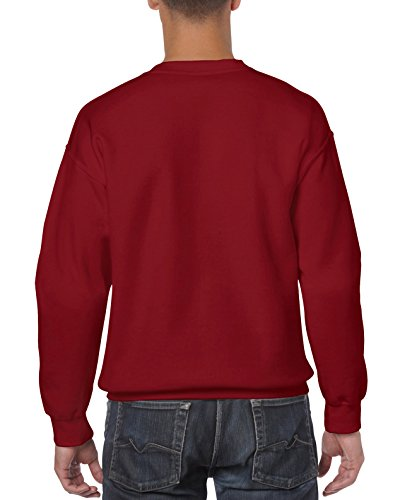 Gildan Men's Fleece Crewneck Sweatshirt Set-in sleeves  Double needle stitching  Double needle cuffs  1x1 rib with spandex  Softer feel and lessened pilling