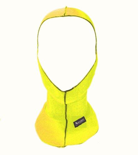Aeroskin Nylon Spandex Solid Hood, Neon Yellow