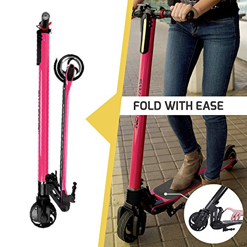 SWAGTRON Swagger High Speed Adult Electric Scooter EXTREMELY FAST - A 250-watt engine drives the e-bike to a maximum speed of 15 MPH for a scope of 4 to 15 miles.