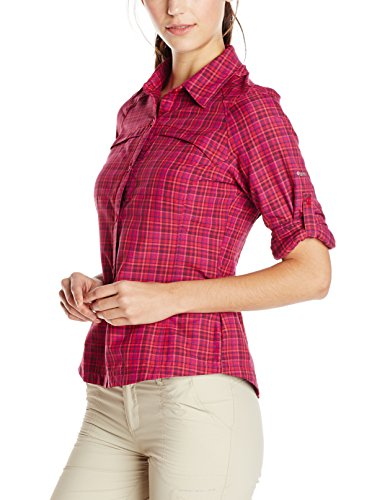 Columbia Silver Ridge Plaid Long Sleeve Shirt Omni-Wick. Omni-Shade UPF 30 sun protection