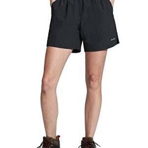 "Baleaf Women's 5"" UPF 50+ Zip Pocket Outdoor Water River Hiking Shorts"