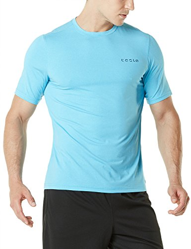 Tesla Men's HyperDri Short Sleeve T-Shirt Athletic Cool Running Top MTS08/MTS06/MTS04/MTS03/MTS07/WTS05 PlazmaSkin Fabric intended for all exercises and sports