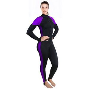 Womens Wetsuit - Lycra Full Body Diving Suit & Sports Skins for Running, Exercising, Snorkeling, Swimming, Spearfishing & Water Sports - Ivation