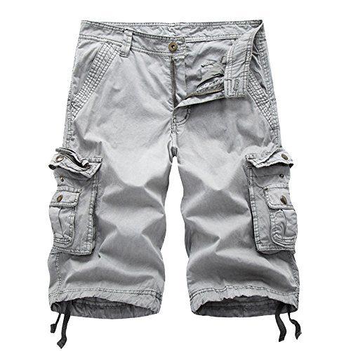 Oeak Men's Twill Cargo Shorts Multi Pockets Work Outdoor Wear