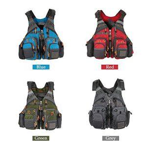 Lixada Fly Fishing Vest, Fishing Safety Life Jacket Breathable Polyester Mesh Design Fishing Vest