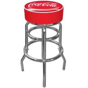 Trademark Gameroom Coca-Cola Padded Swivel Bar Stool