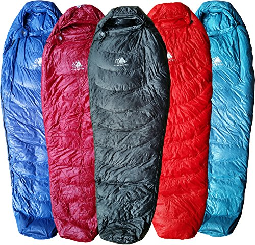 Hyke & Byke Down Sleeping Bag for Backpacking – Shavano 32 Degree F Ultralight