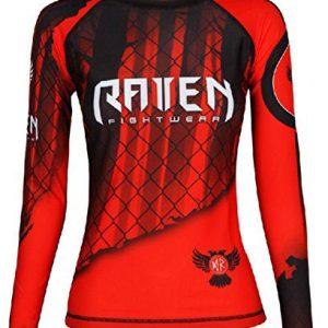 Raven Fightwear Women's The Red Rash Guard MMA BJJ Red
