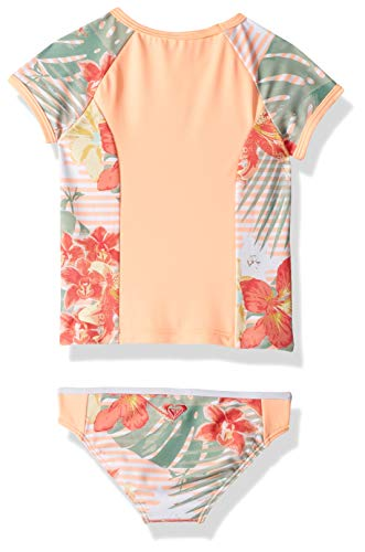 Roxy Girls' Lush Florals Short Sleeve Rashguard Swimsuit Set  Material: chlorine-resistant lycra further life: 5X longer lasting match and efficiency, designed to endure life out and in of the water