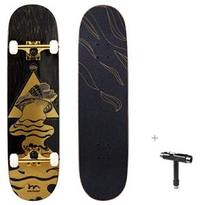 Pro Complete Skateboard 7 Layer Canadian Maple Double Kick