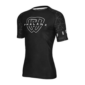 Rash Guard for BJJ Jiu Jitsu, Antimicrobial Short Sleeve