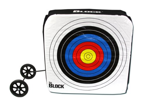 Block Bullseye NASP Archery Target with Removable Wheels