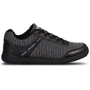 KR Strikeforce Mens Flyer Mesh Bowling Shoes- Black/Steel