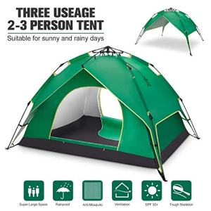 BATTOP 2-3 Person Tent for Camping Instant Pop Up