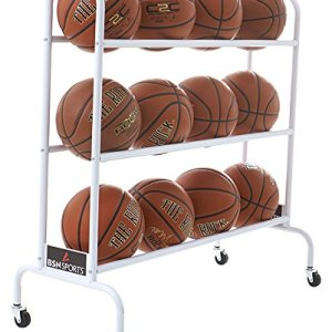 BSN Sports Ball Cart Wide Base (12 Balls)