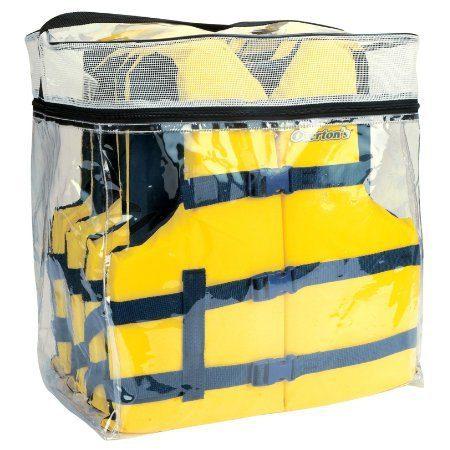 Overton's Universal Adult Boating Vests, 4-Pack with Storage Bag