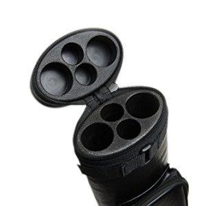 2x2 Hard Oval Pool Cue Billiard Stick Carrying Case