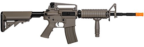 Tactical lt-04t m16 RIS Electric Airsoft Gun Metal Gear fps-400  Manufactured from a sturdy polymer which makes the Airsoft Gun very gentle and maneuverable