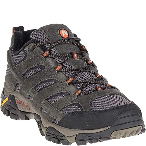 Merrell Moab 2 Ventilator Men's Efficiency suede leather-based and mesh higher  Bellows, closed-cell foam tongue retains moisture and particles out. Molded nylon arch shank  Protecting rubber toe cap, Breathable mesh lining  5mm lug depth  Vibram TC5+ sole