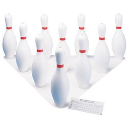 Champion Sports Bowling Set: Rubber Ball & Plastic Pins