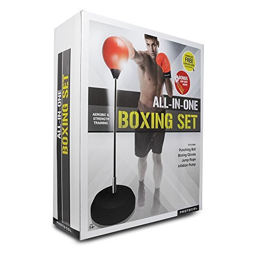 Punching Ball with Adjustable Height Stand