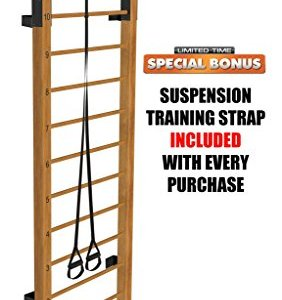 Limitless XVP Fitness Swedish Ladder Wood Stall Bar Suspension Trainer