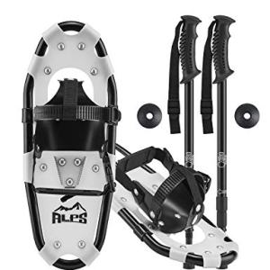 """ALPS Light Weight Kids Snowshoes, Boys & Girls +Trekking Poles,Carrying Tote Bag 14""""/17""""/19"""""""